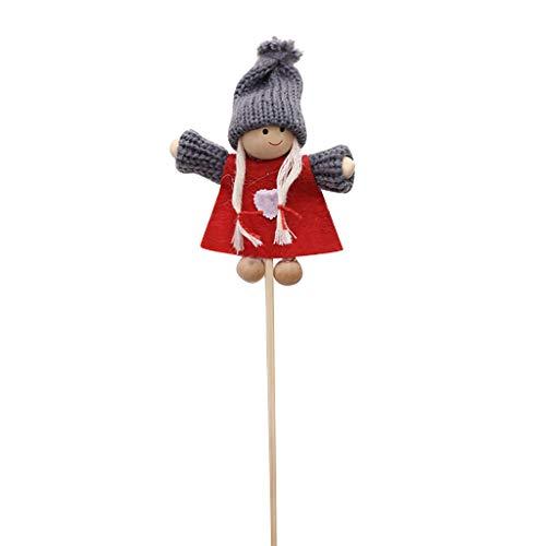 Takkar - Muñeca de Navidad con diseño de palo de bambú