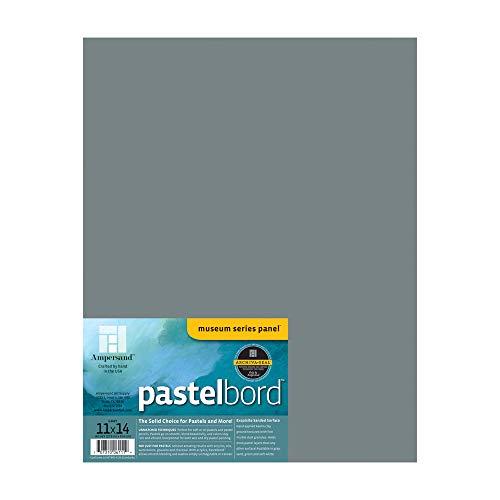 Ampersand Art Supply Panel de pintura pastel: Pastelbord, gris 1/8 pulgadas de profundidad