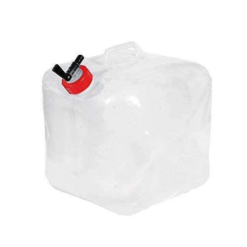 adad Campinggeschirr-Wasserkanister Tragbarer Klappwasserspeicher 15L Mit Großer Kapazität, Geeignet Für Wanderungen Und Camping Im Freien (Color : Clear, Size : 15L)