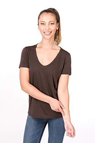 super. Natural W City Femme en Laine mérinos T-Shirt S Marron