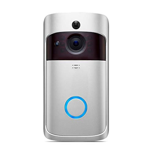 Slimme draadloze telefoon deurbel camera wifi slimme video-intercom ring deurbel zilver