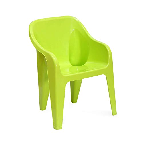 ANMOL Metro EEEZY Kids Strong and Durable Kids Plastic Chair (Standard, Green)