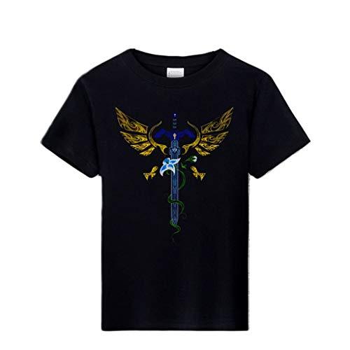 ACEGI - La Leyenda de Zelda - El Desierto - El Ojo de la Verdad - La Espada del Cielo - La Camiseta - Camiseta de Hombre - Cuello Redondo - Moda - Camiseta de algodn - Verano