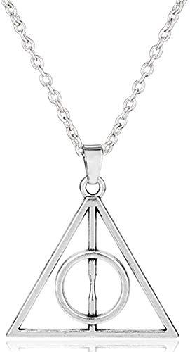 AOAOTOTQ Co.,ltd Collar Accesorios Vintage Joyas Reliquias de la Muerte Collar Triangular Cadena con Colgantes Collares