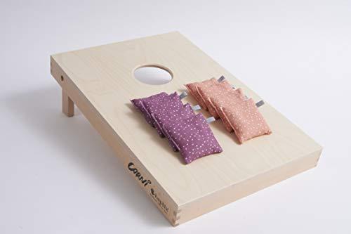 haptix CORNi - Juego de sacos de lanzamiento con 8 saquitos de lanzamiento para niños de 2 a 99 años