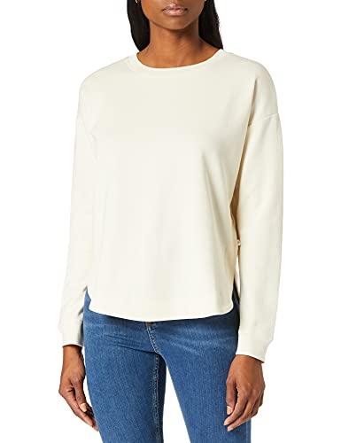 TOM TAILOR Denim Damen 1024578 Basic Crewneck Sweatshirt, 22515-Soft Creme Beige, M