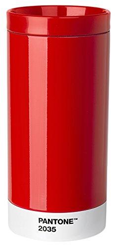 Pantone Reisebecher, Edelstahl, ABS, Red 2035, 7.5 x 7.5 x 16.4 cm