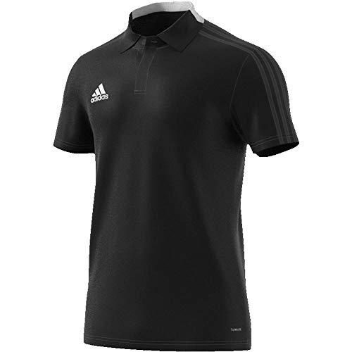 Adidas Con18 Co Camiseta Polo, Hombre, Azul Navy y Blanco, Talla M