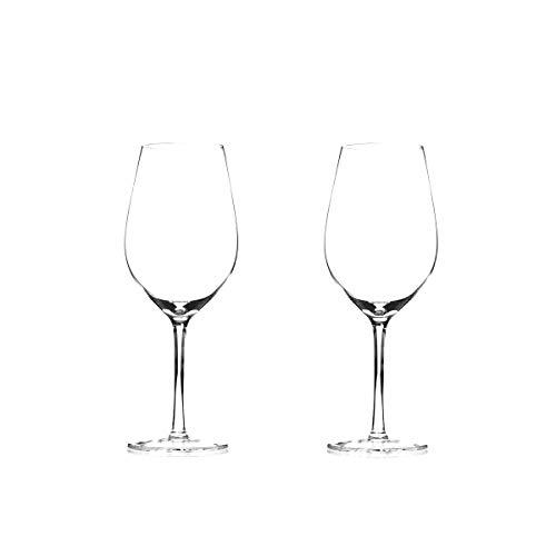 WYK Crystal Goblet Crystal Copa de vino tinto Hecho a mano Soplado Estilo italiano Sin plomo Premium Crystal Clear Glass Gift para bodas, aniversario, Navidad Set de 2, 600 ml