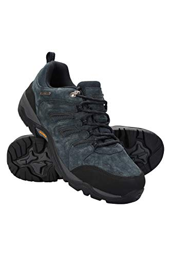 Mountain Warehouse Aspect Herren-Schuhe mit IsoGrip, wasserfeste Wanderschuhe mit Phylon-Midsohle, Eva-Polsterung, Wildleder-Mesh-Obermaterial, ideal für Urlaub, Camping Marineblau 43