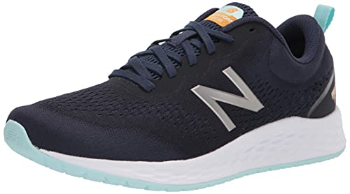 New Balance Women's Fresh Foam Arishi V3 Running Shoe, Navy/Silver, 7.5