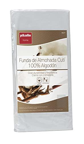 Pikolin Home - Funda de almohada cutí, 100% algodón satén, 40x90cm (Todas las medidas)