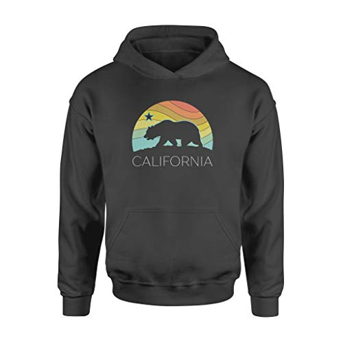 Retro Cali.Fornia Bear Vintage Beach Ca.li Pride Surf 70s 80s Pullover - Standard Hoodie - Front Print Hoodie For Men and Woman.