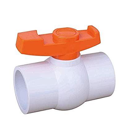 SHMONO 2'' Inline PVC Ball Valve, Compact T-Handle Water Shut-Off Valves, Socket Valve for Irrigation and Water Treatment, 2'' Slip [Available 3/4'',1'',1.25'',1.5''] by SHMONO