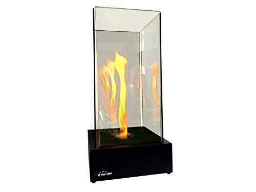 PURLINE TORNADO INFINITY - Tafel-biokhaard met getemperd glas en vlam tornado effect en oneindigheidseffect