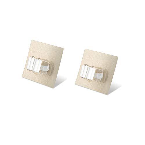 MaikcQ Mop-Rack-Haken, Wandmontage, selbstklebend, für Besen, Aufbewahrung, Clip, für Zuhause, Küche, Badezimmer (2 Stück)