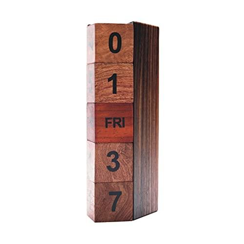LZL Flip Cube Bloques de Escritorio Calendario Calendario Perpetuo Perpetuo Perpetual Bloque Mes Mes Pantalla 2021 Calendario Manual del Escritorio