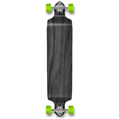 Yocaher Checker Graphic Professional Speed Drop Down Stained Complete Longboard (Complete-Drop Down-02-Black)