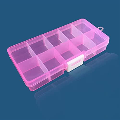 Caja herramientas almacenamiento Caja de herramientas portátil colorida extraíble 10 tragamonedas Almacenamiento de almacenamiento Joyas Anillo Piezas electrónicas Tornillo Beads Organizador Caja de p