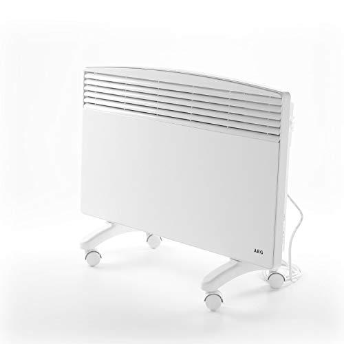 AEG Standkonvektor WKL 2503 F, für ca. 25 m², mit Rollen, mechanischer Temperaturregler, Umkippschutz, stufenlose Temperaturwahl 6-30 °C, 229800, 2,5 W, 230 V, Weiß, 2500 W