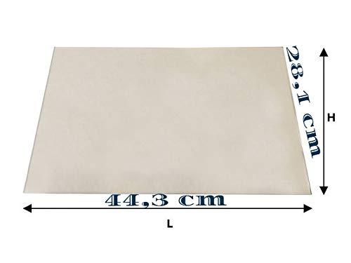 Vetro ceramico x stufa a pellet (LA NORDICA EXTRAFLAME MELINDA idro steel/melinda idro steel 2.0) 44,3cm x 28,1cm, spessore 4 mm