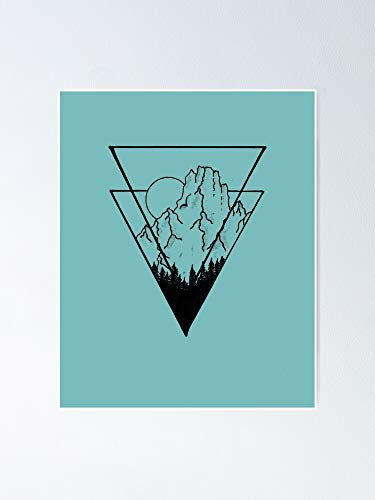 Vector Art Mountain Poster - for Quote Print, Affordable Wall Printable, Gallery Wall, Family, Friends, Brother, Sister, Kids.