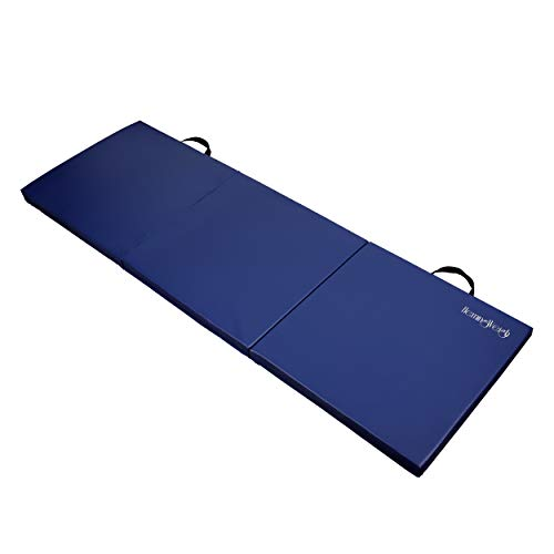 HemingWeigh 3 Fold Gymnastic Mats for Home and Gym AllPurpose AntiTear 15 Inch Thick High Density Exercise Mat for Aerobics Yoga and Workout Blue