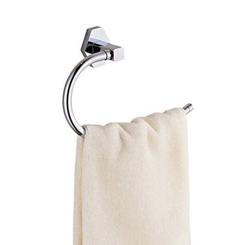 ZKAIAI Punch-libre Montado en la pared de baño toalla bastidor soporte del anillo, sostenedor de la toalla alto brillo cromado de metales, agua y prueba del moho, for baño y cocina Multi-capa de almac