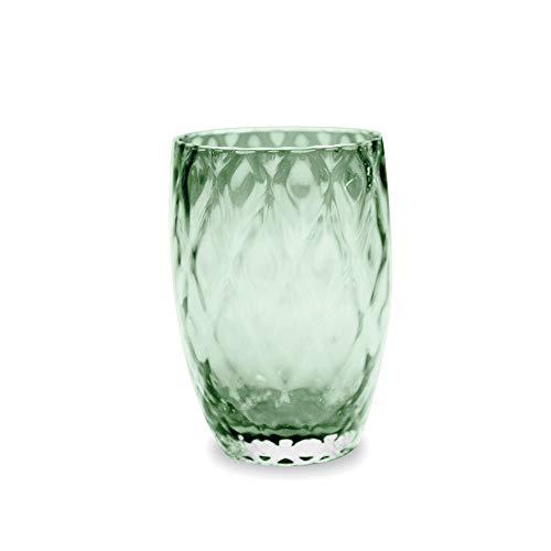 Zafferano Set 6 Losanghe Tumbler Wasserglas grün