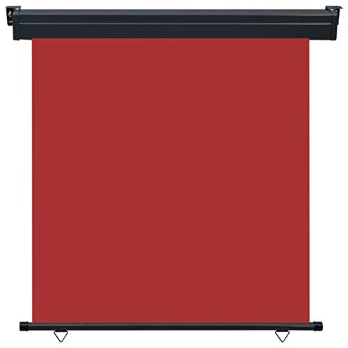 Tidyard Seitenmarkise Balkon Senkrechtmarkise Sonnenschutz Sichtschutz Windschutz Markise Seitenrollo Balkonrollo Beschattung Rot 170 x 250 cm