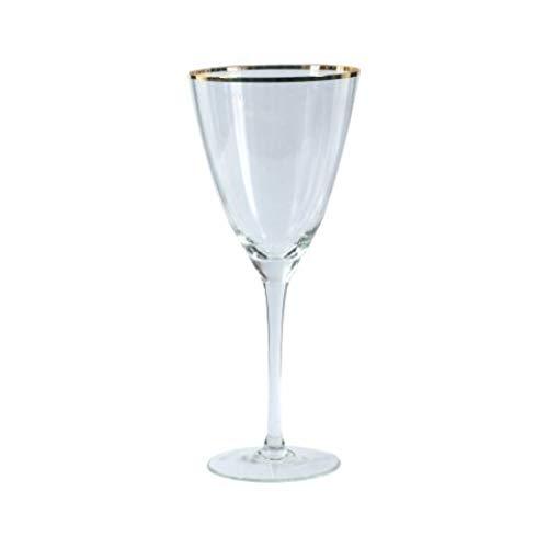 Vidal Regalos Copa de Cristal con Borde Dorado 22 cm