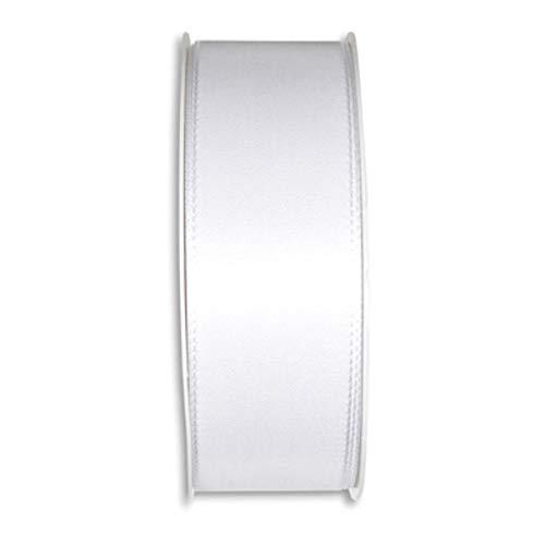 Schleifenband Taft Breite 40mm weiss 50 meter Hochzeit Hochzeitsband