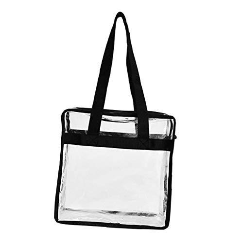 Hellery Seguridad de estadio viaje y gimnasio piscina bolsa transparente Almacenamiento y organización perfecto para el trabajo lonchera Juegos Deportivos 11 - Negro