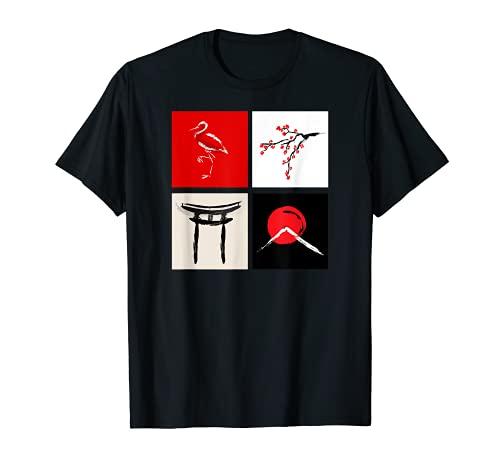 JAPÓN TIERRA DE SAKURA, TEMPLO, MT FUJI, FLAMINGO Camiseta