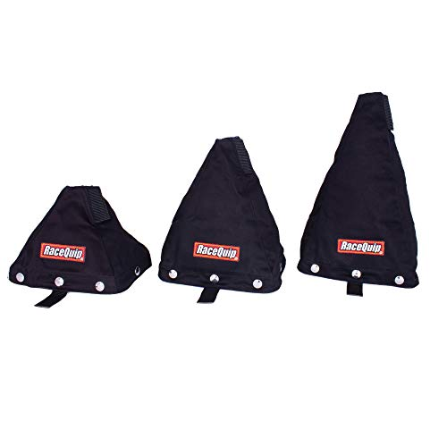 RaceQuip Racecar Shifter Boot With Mounting Base Plate Fire-Retardant Black Tall Height 871005