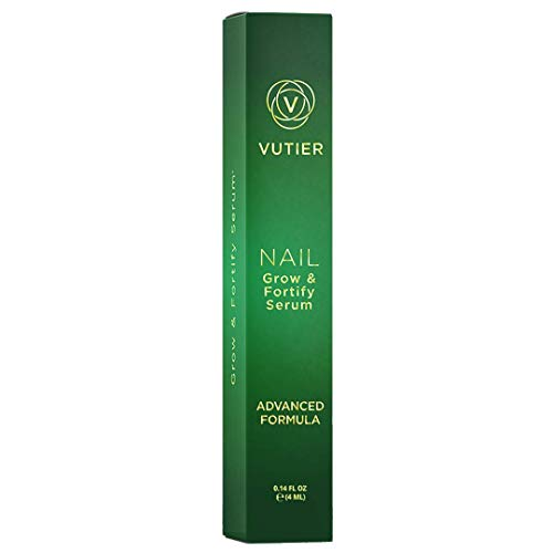 Vutier Nail Strengthener - Nail Growth Serum for Stronger and Harder Nails - Gentle, Non-Irritating Blend of KGF Peptides, Amino Acids, Herbs and More!