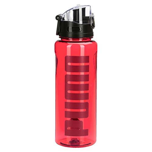 PUMA Unisex– Erwachsene TR Bottle Sportstyle 1liter Wasserflasche, Rhubarb-NRGY Red, OSFA