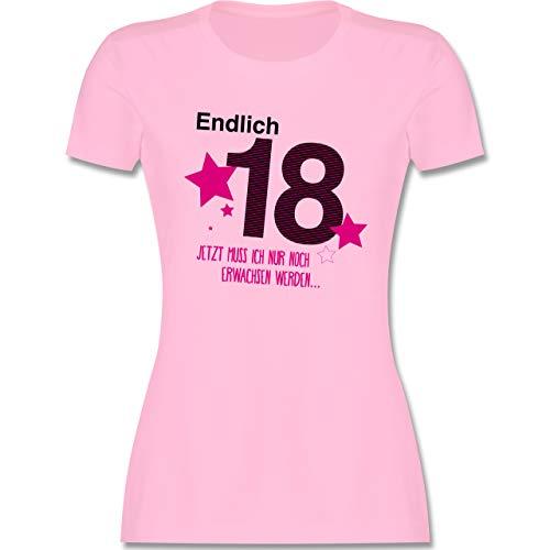 Geburtstag - Endlich 18 - S - Rosa - 18 Geburtstag mädchen Tshirt - L191 - Tailliertes Tshirt für Damen und Frauen T-Shirt