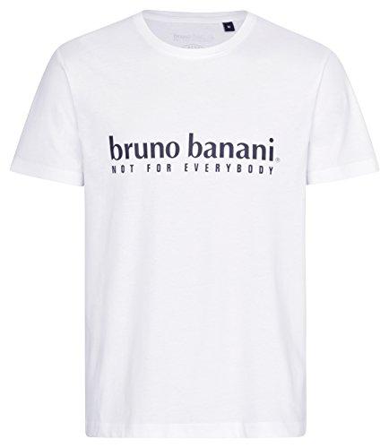 bruno banani Herren T-Shirt, R&hals in weiß, Größe M