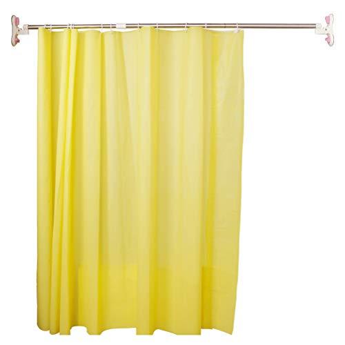 BAOYOUNI Barre de rideau de douche extensible avec ventouses pour salle de bain, barre porte-serviettes, barre de rangement télescopique pour vêtements de 175 à 255 cm