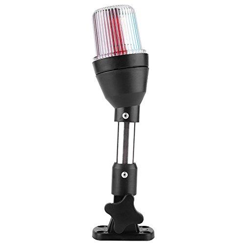 Keenso Boot Positionslichter LED-Navigationsleuchte Marine Anchor Light Boot LED-Licht Yacht Signal Licht Küstenlinie Tri-Color Red Green Fold Down Stern