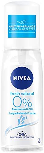 Nivea Fresh Natural Deo verstuiver per per stuk (1 x 75 ml), deodorant zonder aluminium voor een verfrist huidgevoel, deodorant met 48 uur bescherming verzorgt de huid