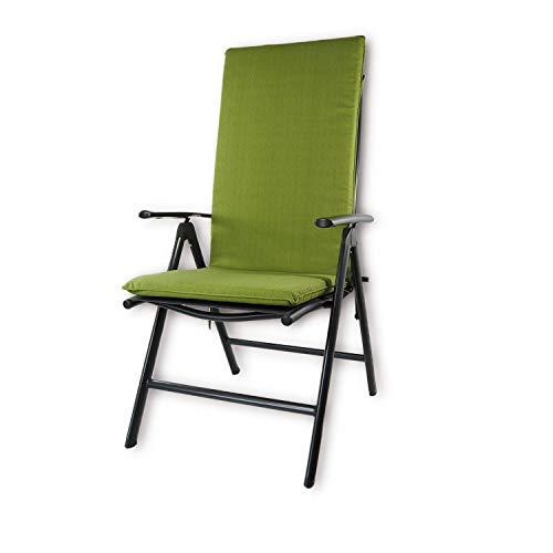 Nordje Gartenmöbelauflage | 120x50x5 cm | Hochlehner | Top Qualität Produkt | Sitzkissen Outdoor (Grün)
