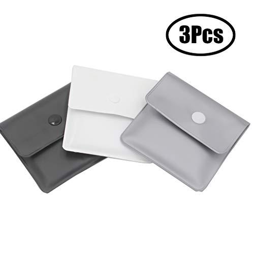 Xhuan 3 Nero Argento Bianco Tasca posacenere Sacchetti Grigi - PVC ignifugo - Privo di odori -...
