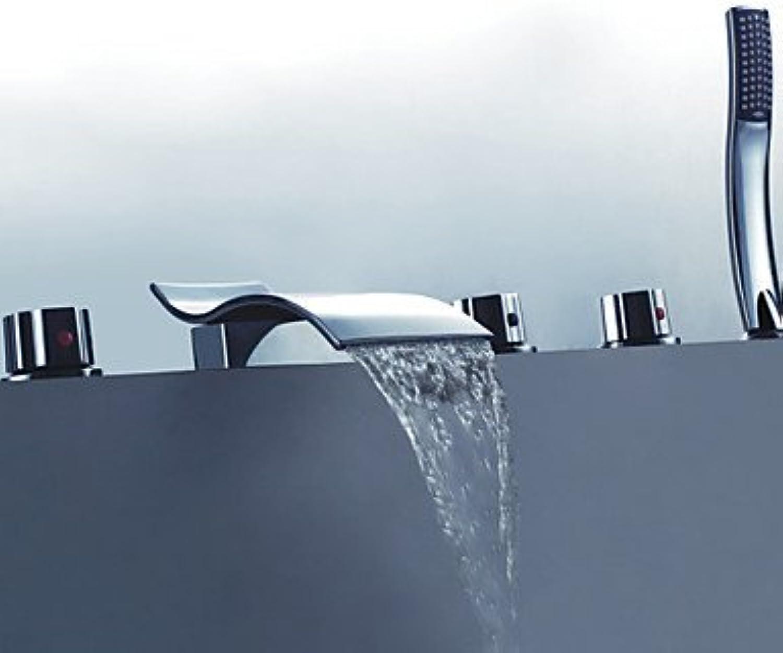 Axiba Duscharmaturen Badewannenarmaturen - Zeitgenssisch - Handdusche inklusive - Messing ( Chrom )