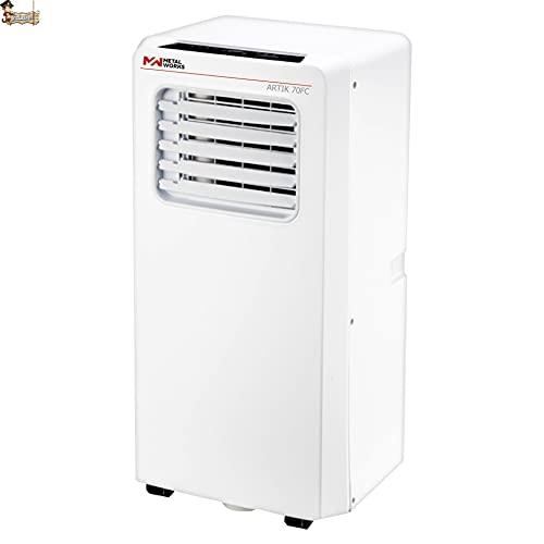 BricoLoco Aire acondicionado portátil silencioso. Pingüino bajo consumo. 4 en 1: refrigerador, ventilador, deshumidificador y calefactor. Mando a distancia. Kit ventana incluido.