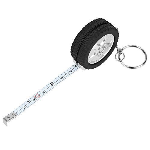 iTimo - Mini cinta métrica para neumáticos, 1 m, regla retráctil para llavero
