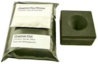Make Your Own Gold Bars 1.5x1.25x 1.00 plusChapman Combo 1 lbs Chapman Flux & Free Thinner - Assorted Gold Silver Black Sand Cone