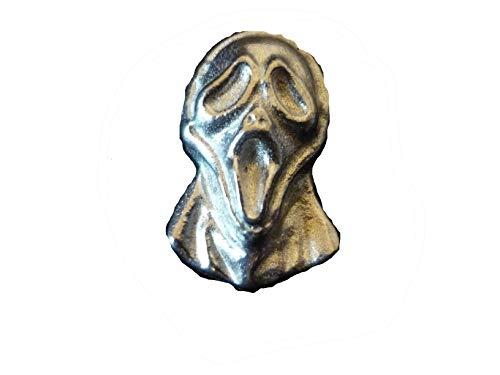 Halloween Scream Mask 1.7x3cm ft111 Gemaakt van Solid Fine Engels Pewter Pin Lapel badge geplaatst door ons geschenken voor alle 2016 van DERBYSHIRE UK