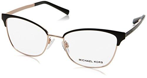 Michael Kors Damen 0MK3012 Sonnenbrille, Black/Rose Gold, 51